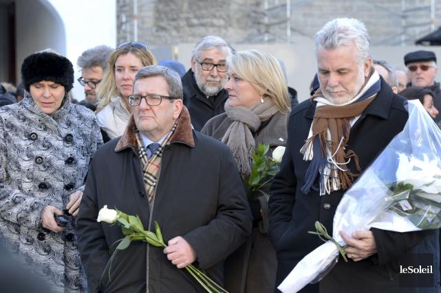 Le maire de Québec, Régis Labeaume, et le... (Le Soleil, Jean-Marie Villeneuve)