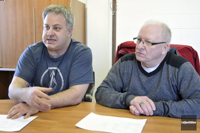 Steve Thériault et Jean-Guy Dallaire estiment avoir élaboré... (Photo Le Quotidien, Rocket Lavoie)