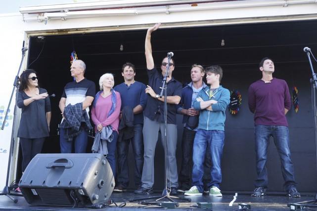 Quelques acteurs de la série télévisée étaient présents... (photo archives la voix de l'est)