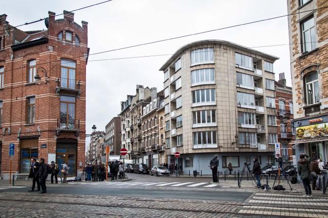 L'édifice au coin des rues Max-Roos et Maurice-Ombiaux... (Photo Aurore Belot, Agence France-Presse)