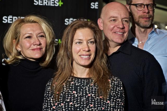 Les comédiens Élise Guilbault, Céline Bonnier,Stéphane Jacques et... (PHOTO ANDRÉ PICHETTE, LA PRESSE)