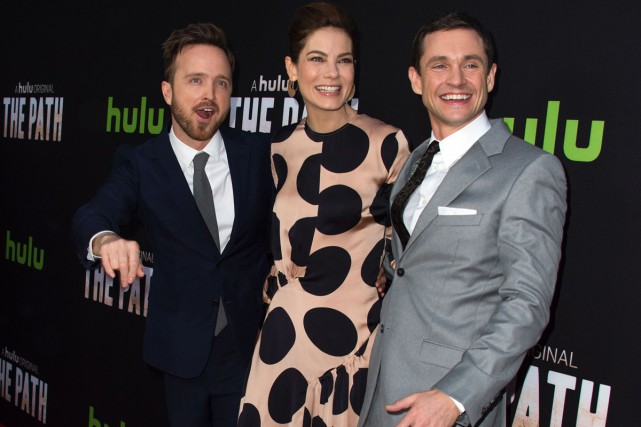 Aaron Paul, Michelle Monaghan et Hugh Dancy à... (PHOTO AFP)