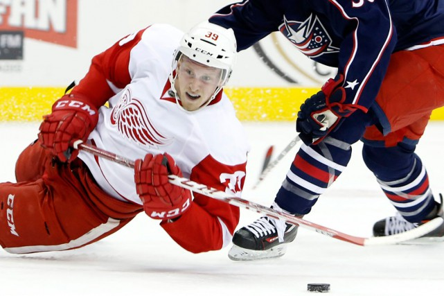 Le jeune attaquant des Red Wings Anthony Mantha jouera... (Photo Jay LaPrete, AP)