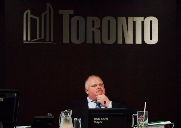 Rob Ford a été maire de Toronto de 2010... (photo Michelle Siu, archives la presse canadienne)