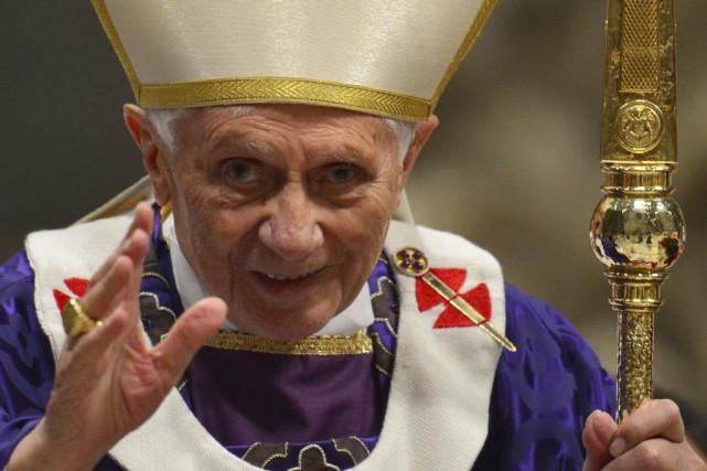 Benoît XVI«est serein, en paix avec Dieu, avec... (PHOTO GABRIEL BOUYS, ARCHIVES AFP)