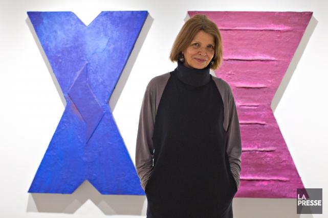 Isabelle Leduc expose ses oeuvres à la Maison... (PHOTO OLIVIER JEAN, LA PRESSE)