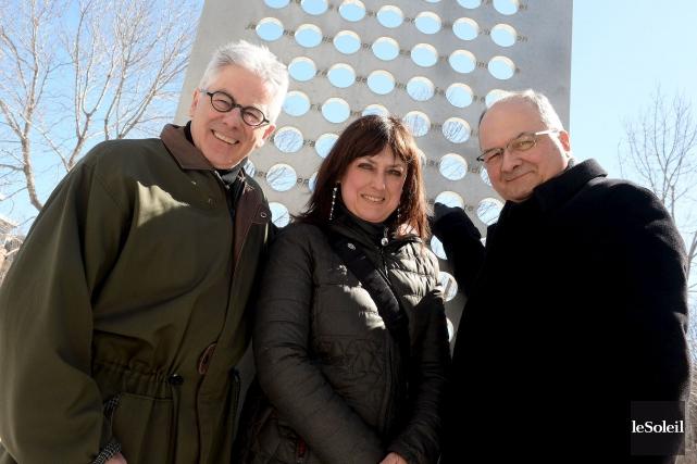 GastonDéry, président du comité sur la culture,DominiqueViolette,directrice du... (Le Soleil, Erick Labbé)