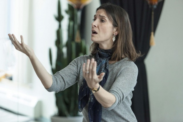 GéraldinePailhas interprète une chanteuse qui ne vit que... (Fournie par Filmoption International)