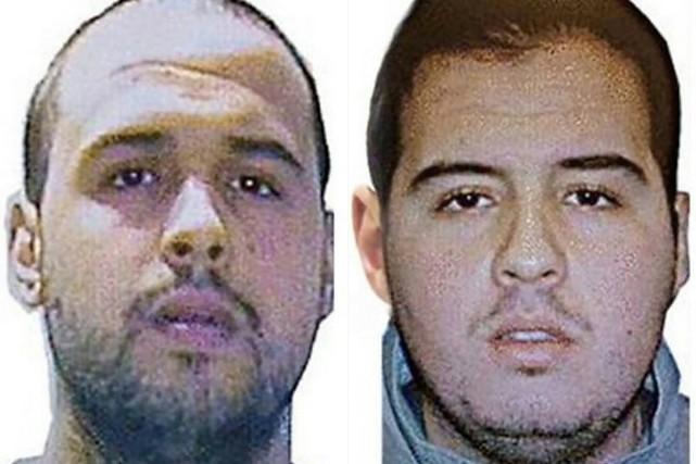 Khalid (à gauche) et Ibrahim El Bakraoui se...