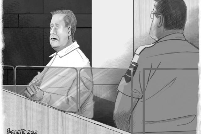 Anthony Tristan Bernard est accusé du meurtre prémédité... (Illustration Serge Paquette, archives La Voix de l'Est)