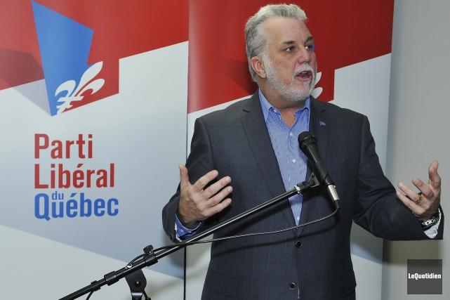 Le premier ministre du Québec, Philippe Couillard... (Archives Le Quotidien)