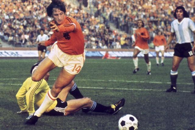 En 1974, Johan Cruyff avait mené les Pays-Bas... (Archives AFP)