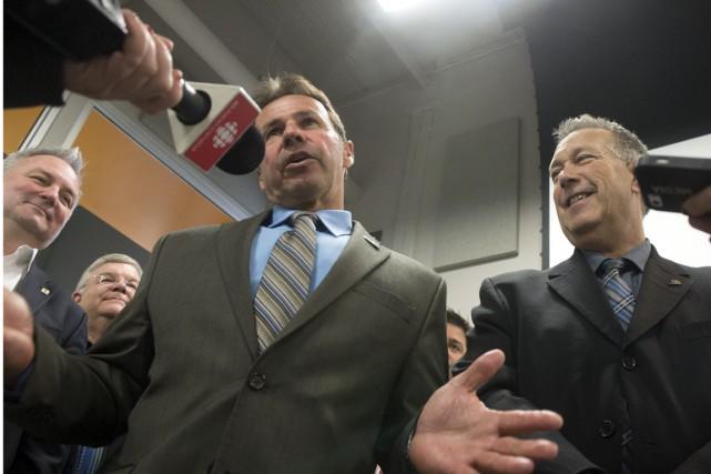 Le maire de Shawinigan, Michel Angers, et le... (Stéphane Lessard)