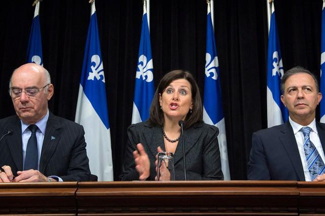 Unebrochette de ministres libéraux, dont la ministre de... (Jacques Boissinot, PC)