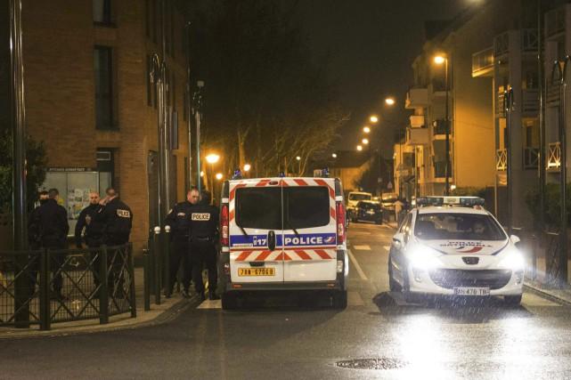 L'opération policière a été menée à Argenteuil, en... (AFP, Geoffroy van der Hasselt)