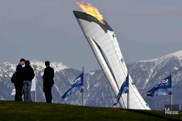 La flamme olympique à Sotchi... (Archives La Presse, Bernard Brault)