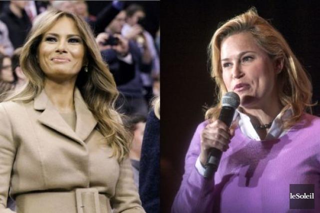 Melania Trump et Heidi Cruz... (Infographie Le Soleil)