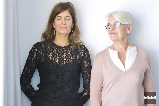 Anne-Marie Cadieux etBrigitte Haentjens... (Le Soleil, Yan Doublet)