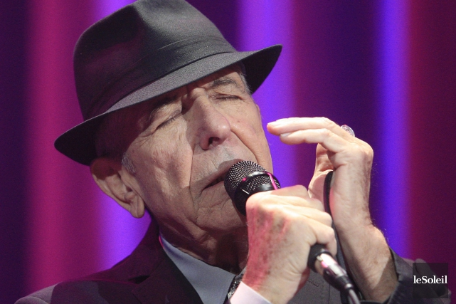 Leonard Cohen... (Photo Pascal Ratthé, archives Le Soleil)