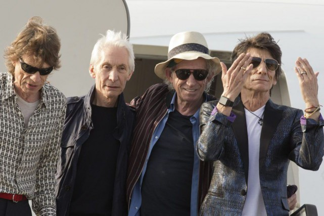 Mick Jagger, Charlie Watts, Keith Richards et Ron... (PHOTO ARCHIVES AP)