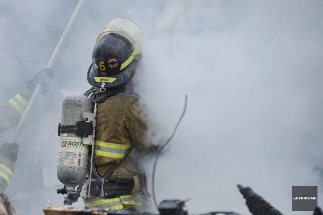 Le mauvais fonctionnement d'un équipement de pompage a provoqué un important... (Archives La Tribune, Julien Chamberland)