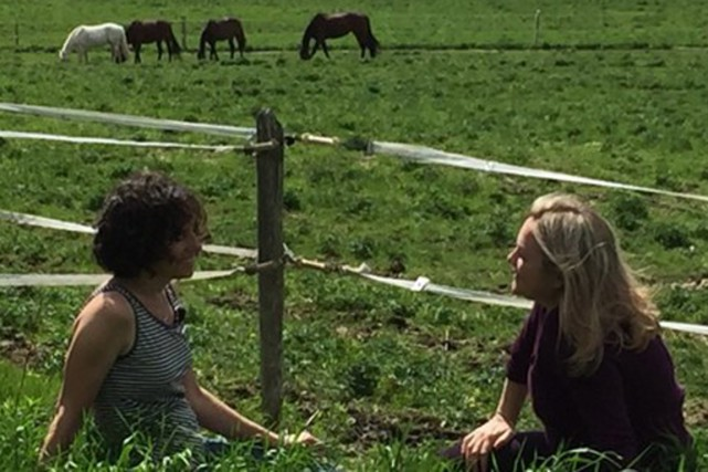 Anne-Marie confie à son amie, l'animatrice Marcia Pilote,... (La Presse Canadienne)