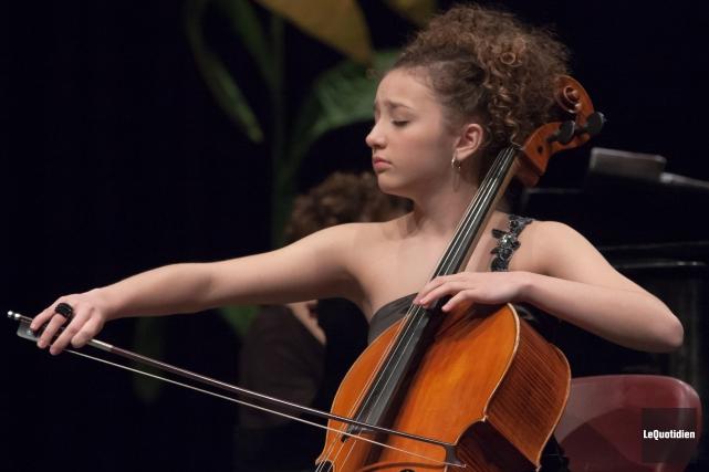 La violoncelliste Marie-Pier Simard-Gagnon, qu'on a pu voir... (Archives Le Quotidien)