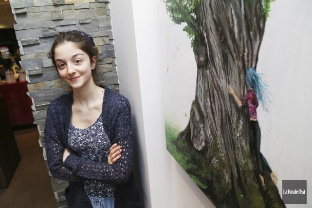La jeune Elfée Marcoux, âgée de 14 ans,... (Janick Marois, La Voix de l'Est)