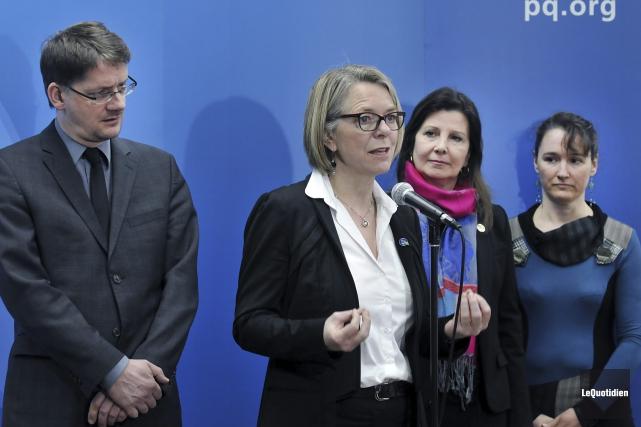 La candidate péquiste dans Chicoutimi, Mireille Jean, qui... (Photo Le Quotidien, Rocket Lavoie)