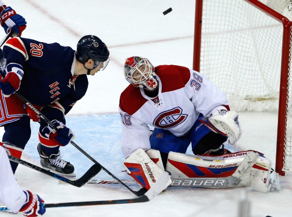Mike Condon n'a jamais caché que Henrik Lundqvist... (PHOTO NOAH K. MURRAY, ARCHIVES USA TODAY SPORTS)