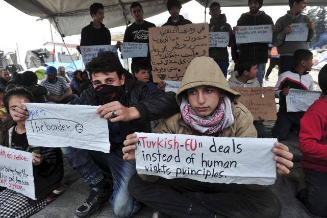 Même si les autorités grecques ont commencé à... (AFP, SAKIS MITROLIDIS)