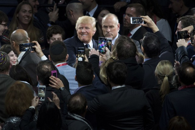 Donald Trump dans un rassemblement, à Washington... (Associated Press)