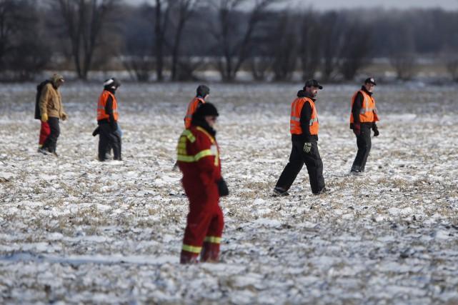 Des équipes de recherche avaient ratissé les environs... (Photo La Presse Canadienne)