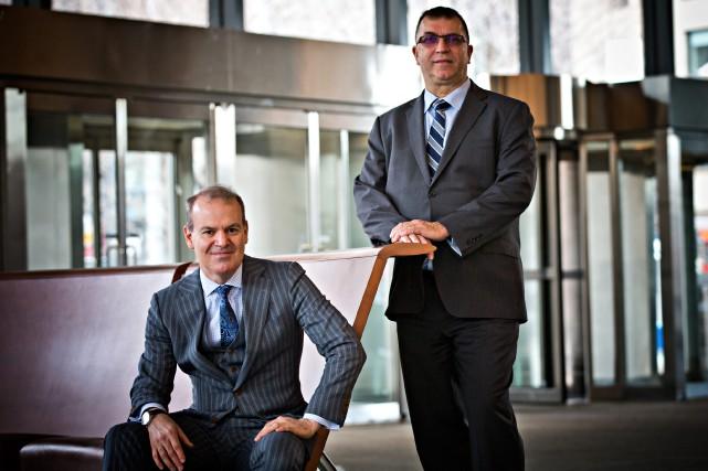 Pierre Boucher (à gauche) et Louis Doyle se... (PHOTO PATRICK SANFAÇON, LA PRESSE)