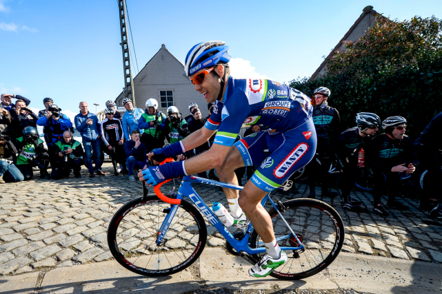 Le cycliste belge Antoine Demoitié est décédé dimanche... (Photo Dirk Waem, AFP)