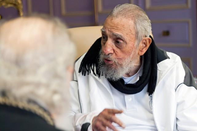 L'ex-président cubain Fidel Castro, à La Havane, le... (PHOTO ALEX CASTRO, ARCHIVES AP)