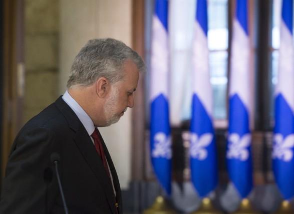 Le premier ministre du Québec, Philippe Couillard... (La Presse Canadienne, Jacques Boissinot)