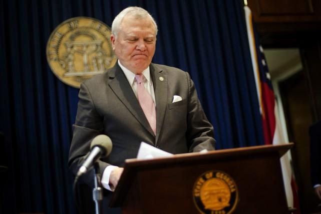 Le gouverneur républicain de la Géorgie, Nathan Deal,... (PHOTO AP)