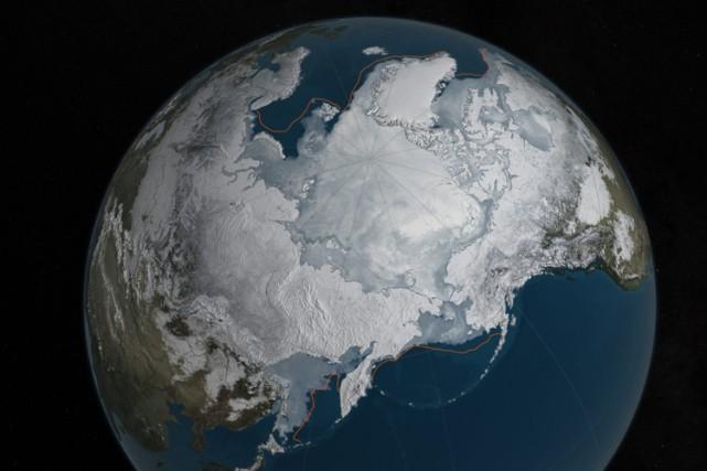 Les températures enregistrées au-dessus de l'océan Arctique pendant... (PHOTO AP/NASA)