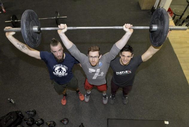 Nicolas Viens, Andrick Fournier et Simon Paquette sont... (Spectre Média, Maxime Picard)