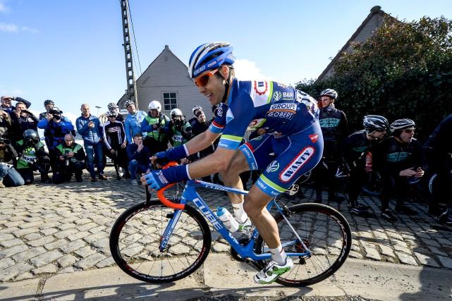 Le cycliste belge Antoine Demoitié, de l'équipe Wanty-Gobert,... (AFP)