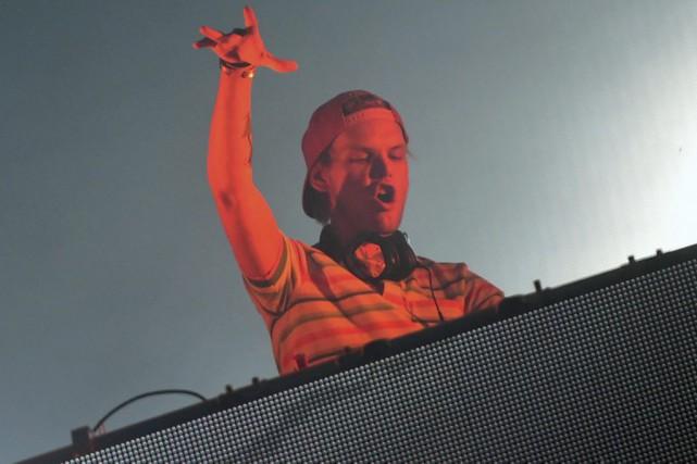 Avicii lors d'une prestation à Budapest en août... (PHOTO ARCHIVES AFP)