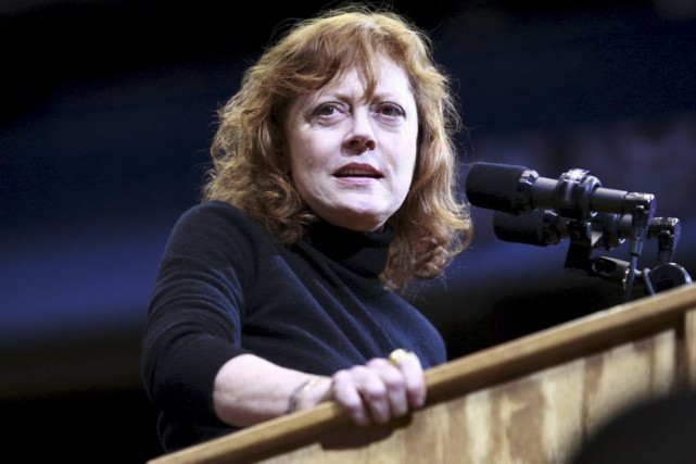 Susan Sarandon a apporté son soutien à Bernie... (PHOTO ARCHIVES REUTERS)