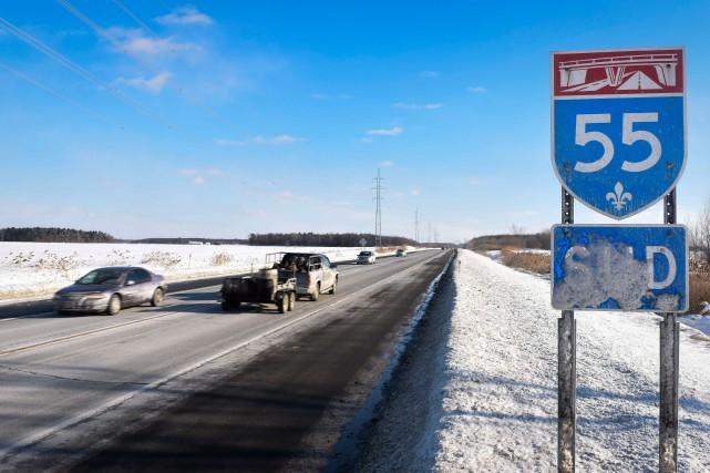 L'autoroute 55, au Centre-du-Québec.... (François Gervais)