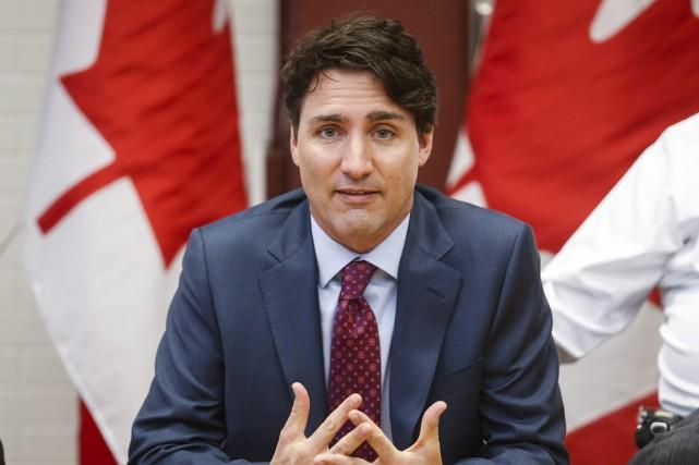 De passage à Calgary mardi, le premier ministre... (La Presse Canadienne)