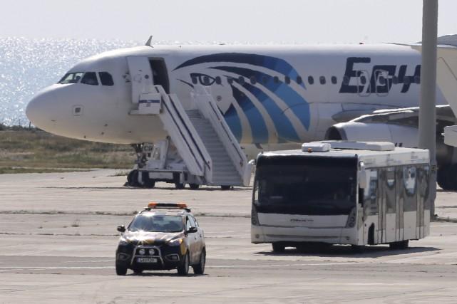 Les autorités chypriotes ont affirmé que le détournement... (Petros Karadjias, AP)