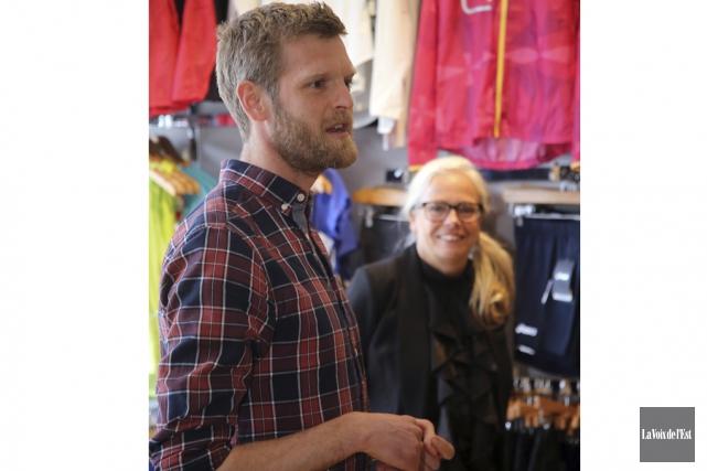 L'ultramarathonien et copropriétaire de la boutique Course et... (Christophe Boisseau-Dion, La Voix de l'Est)