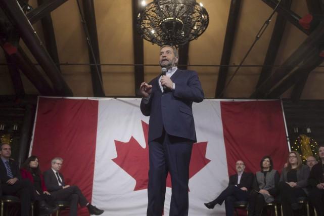 Thomas Mulcair a rencontré de nombreux partisans du... (Archives La Presse Canadienne)