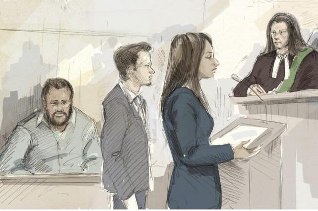 Kevin Omar Mohamed (à gauche) s'est présenté en... (Illustration La Presse Canadienne)