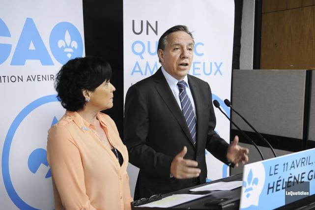 Le chef de la CAQ, François Legault, était... (Photo Le Quotidien, Mariane L. St-Gelais)